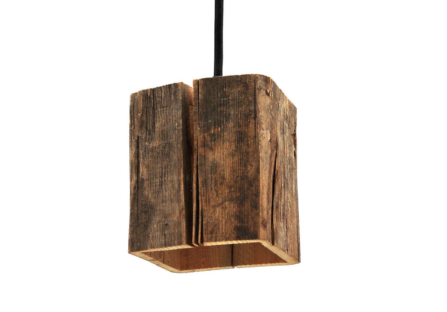 almleuchten design lighting made of old timber
